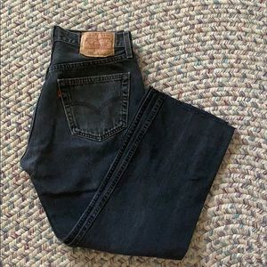Vintage black Levi's